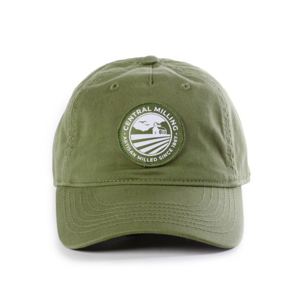 Vintage Green Central Milling Dad Hat with Woven Patch